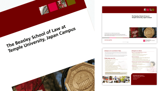 Temple University: Presentation folder design