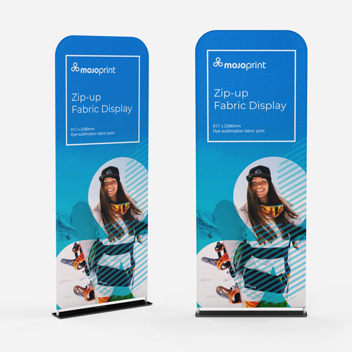 Zip-up Fabric Banners