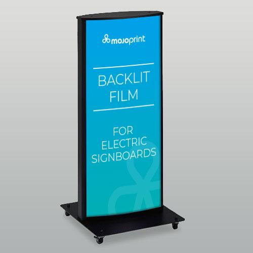 Backlit adhesive film