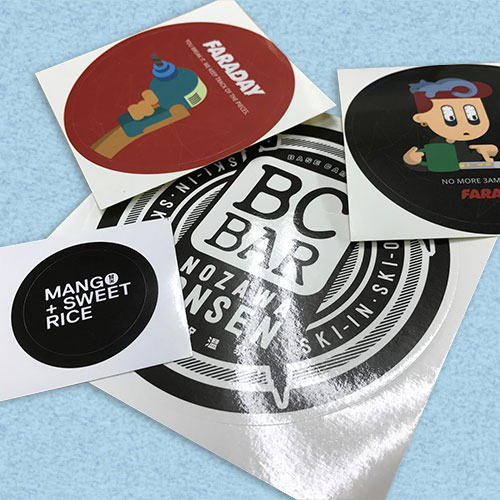 Round stickers (Gloss PP)